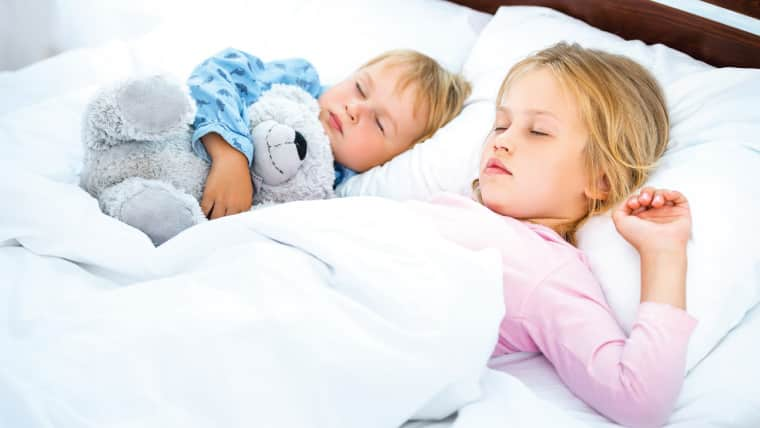 Children Sleeping With Teddy Bear 53237632729